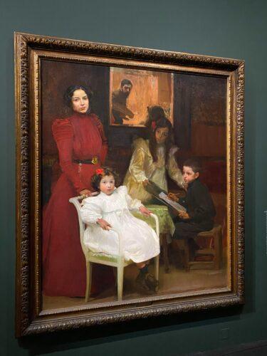 Cuadro de JOAQUÍN Sorolla titulado La familia. Representa una familia siguiendo el modelo de Velásquez